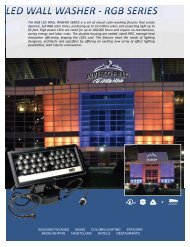 The RGB LED WALL WASHER SERIES is a set ... - American Lighting