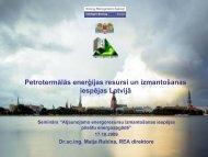Petrotermālās enerģijas resursi un izmantošanas iespējas Latvijā