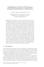 Amplification of Search Performance through Randomization of ...
