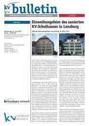 Bulletin 1-2012 (PDF, 2158 kb) - KV Schweiz