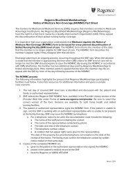 Notice of Medicare Non-Coverage (NOMNC) - Regence BlueShield
