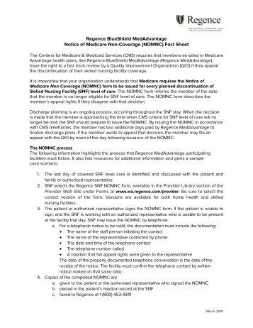 Form Instructions for the Notice of Medicare Non-Coverage ...