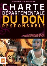 Charte départementale du don responsable - Département de Seine ...