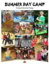 SUMMER DAY CAMP - Town of Tecumseh