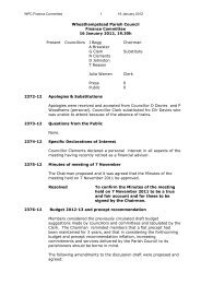 Finance Committee Minutes - 16th January 2012 - Wheathampstead ...