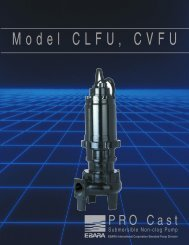 Model CLFU product brochure, rev. 0300 - BBC Pump and Equipment