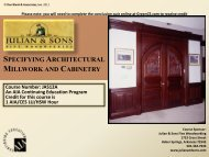 specifying architectural millwork and cabinetry - Ron Blank ...