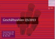 Geschäftszahlen Q1/2013 - Fair Value REIT-AG