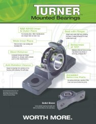Turner Mounted Bearings Product Brochure (PDF) - McGuire ...