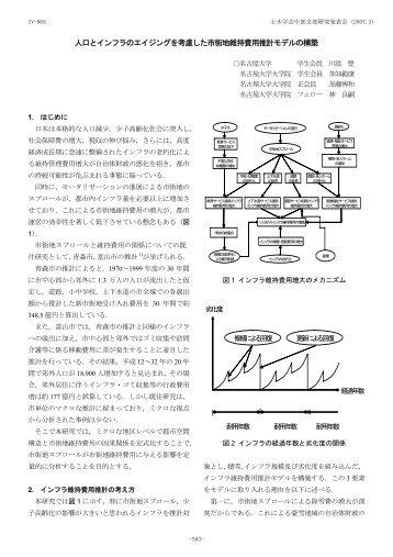 人口とインフラのエイジングを考慮した市街地維持費用推計 ... - 名古屋大学