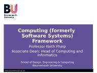 Careers in Computing - School of Design, Engineering, and ...