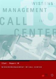 Wissensmanagement im Call Center - CCall