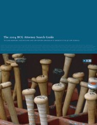 The 2004 BCG Attorney Search Guide To Class ... - Legal Recruiters