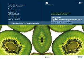 Update Ernährungsmedizin 2012 - Quetheb