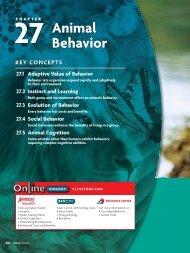 27 Animal Behavior - the Ravenna School District