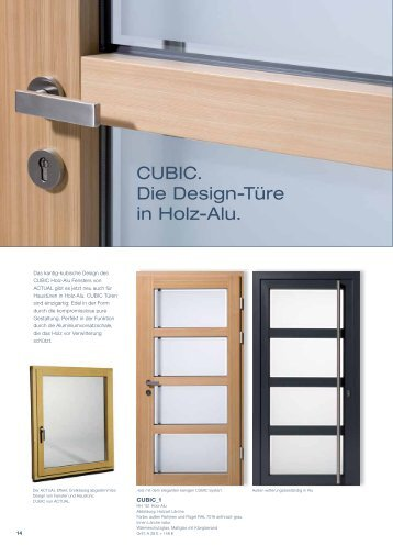 CUBIC. Die Design-Türe in Holz-Alu. - Actual Ablak