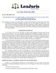 Ley Núm. 68 de 2009 -Para enmendar los incisos (a) y ... - La Regata