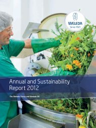 Annual and Sustainability Report 2012 - Weleda