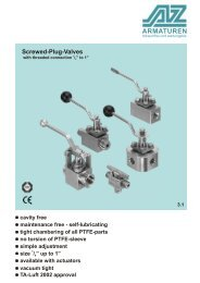 TYPE MGZ / MBZ / MB / WA Screwed plug-valve