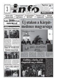 Új utakon a Kárpát- medence magyarsága - Kárpátinfo.net