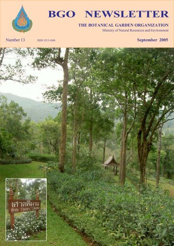 Final Newsletter 13 (16Dec).pmd - Queen Sirikit Botanic Garden