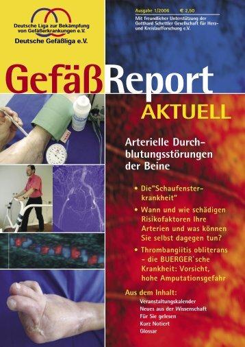Arterielle Durchblutungsstörungen der Beine - Deutsche Gefäßliga eV