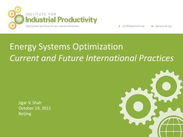 Energy Systems Optimization (ESO) - Institute for Industrial Productivity