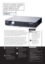 3LCD portable wireless XGA projector with 2500 ... - ELVIA Display