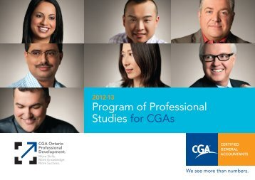 Program of Professional Studies for CGAs - Certified General ...