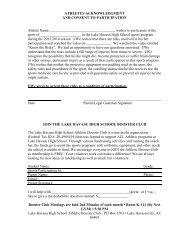 Informed Consent Form - Lake Havasu Unified School District
