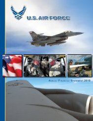 Fiscal Year 2010 Department of the Air Force Financial Statements ...