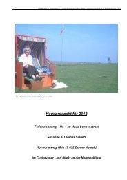 Hausprospekt für 2012 - Ferienwohnung Haus Sonnenstrahl