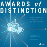 Awards of Distinction 2006 - Enterprise and Advanced Education