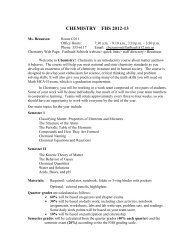 Chem syllabus 2012.pdf - Faribault Public Schools