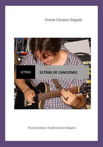 Letras de canciones - Vicentecarrascosalgado.com