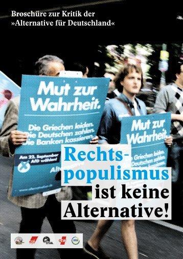 Rechtspopulismus ist keine Alternative!