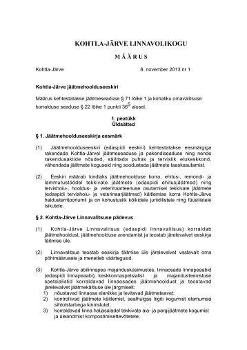 Jaatmehoolduseeskiri - Kohtla-Järve