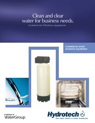 Clean and clear water for business needs. - Hydrotech