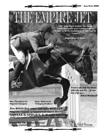 Jan/Feb 2009 - Empire State Quarter Horse Association
