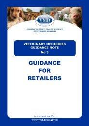 VETERINARY MEDICINES GUIDANCE NOTE No 3