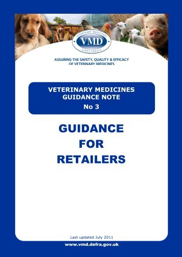 VETERINARY MEDICINES GUIDANCE NOTE No 3
