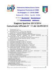 26/09/2013 Comunicato ufficiale N.11 - Informacalcio.it