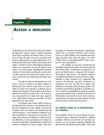 acceso a mercados - Centro de Estudio Sobre Desarrollo España ...