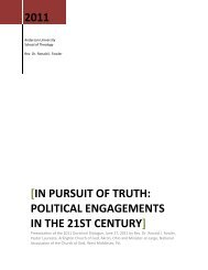 In Pursuit of Truth - Anderson University