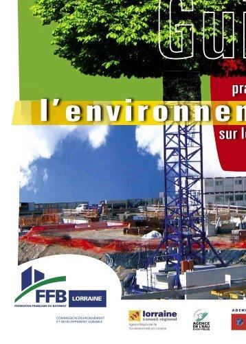 Un guide des bonnes pratiques pour l'environnement sur les ...