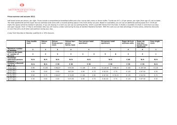 Prices summer and autumn 2012 Half board prices ... - Sandton Hotels
