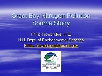 Great Bay Nitrogen Pollution Source Study - NEIWPCC