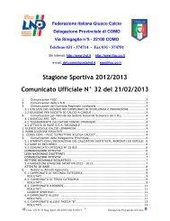 COMUNICATO n.32 del 21/02/2013 - FIGC