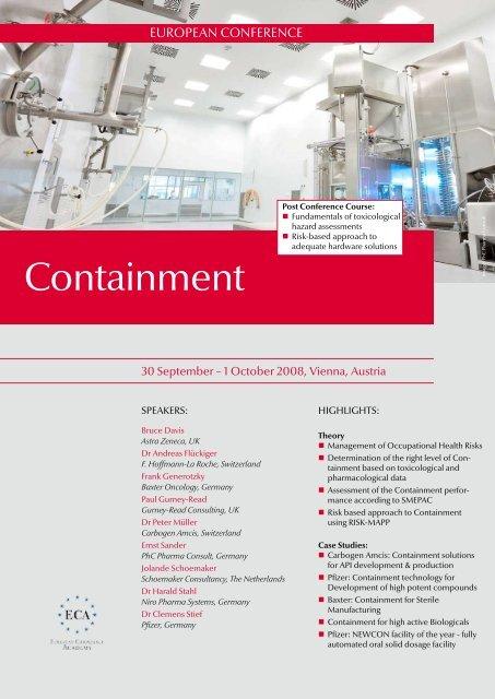 Containment - GEA Pharma Systems
