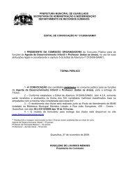 PREFEITURA MUNICIPAL DE GUARULHOS SECRETARIA ... - Ibam